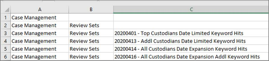 Example of export issues .csv file in Excel