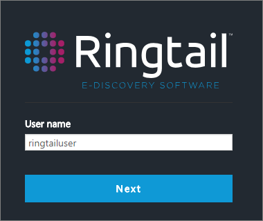 New Ringtail login page for new Ringtail login service.
