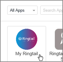 Click the tile to log in to Ringtail from Centrify.
