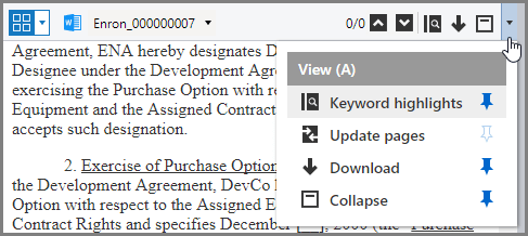 Collapsed View menu in a narrow View pane