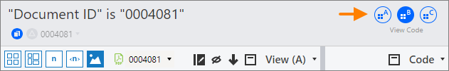 Workspace buttons in the standalone workspace window.